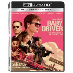 Blu-ray Baby Driver, UHD + BD, CZ dabing
