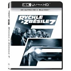 Blu-ray Rychle a zběsile 7, Fast & Furious 7, UHD + BD, CZ dabing