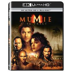 Blu-ray Mumie se vrací, The Mummy Returns, UHD + BD, CZ dabing