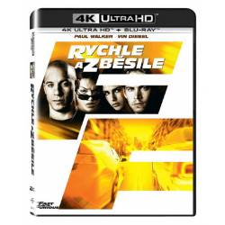Blu-ray Rychle a zběsile, Fast and Furious, UHD + BD, CZ dabing