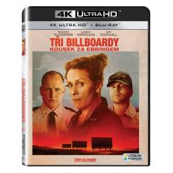 Blu-ray Tři Billboardy kousek za Ebbingem, Three Billboards Outside Ebbing Missouri, UHD + BD, CZ dabing