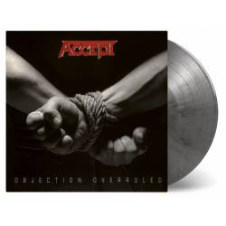 Vinyl Accept - Objection Overruled, Music on Vinyl, 2020, Strieborno-čierny vinyl