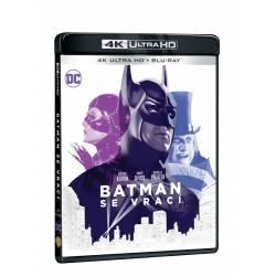 Blu-ray Batman se vrací, UHD + BD, CZ dabing