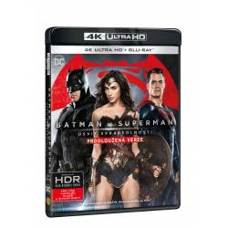 Blu-ray Batman vs. Superman: úsvit spravedlnosti (prodloužená verze), UHD + BD, CZ dabing