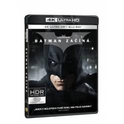 Blu-ray Batman začíná, UHD + BD + bonusový disk, CZ dabing