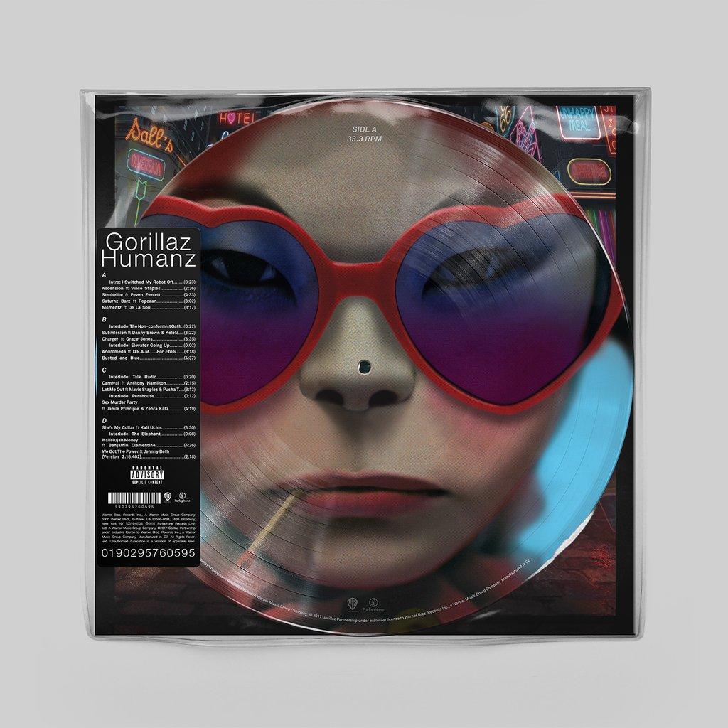 Vinyl Gorillaz - Humans, Pig, 2017, 2LP, 180g, HQ, Limited Edition, Picture Disc