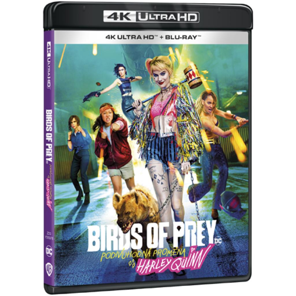 Blu-ray Birds of Prey (Podivuhodná proměna Harley Quinn), UHD + BD, CZ dabing