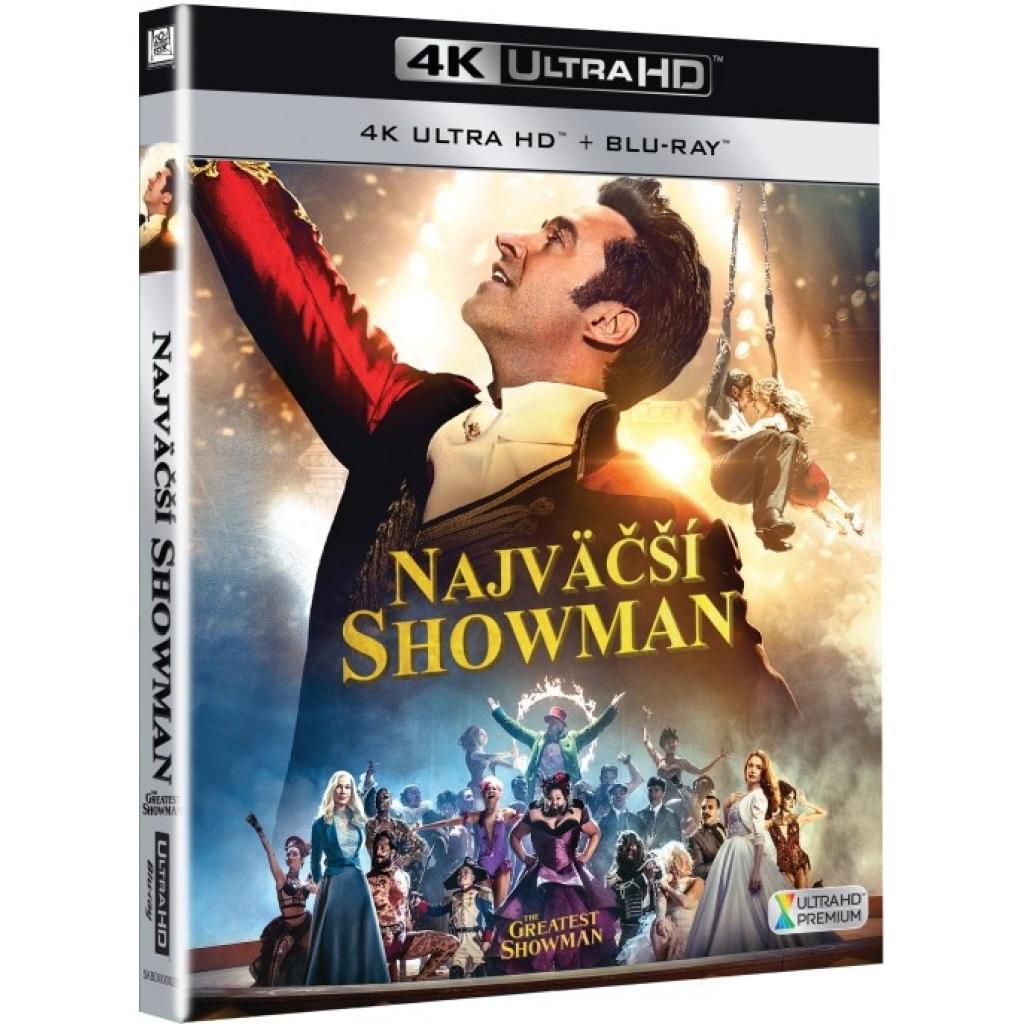 Blu-ray Najväčší showman, The Greatest Showman, UHD + BD, CZ dabing