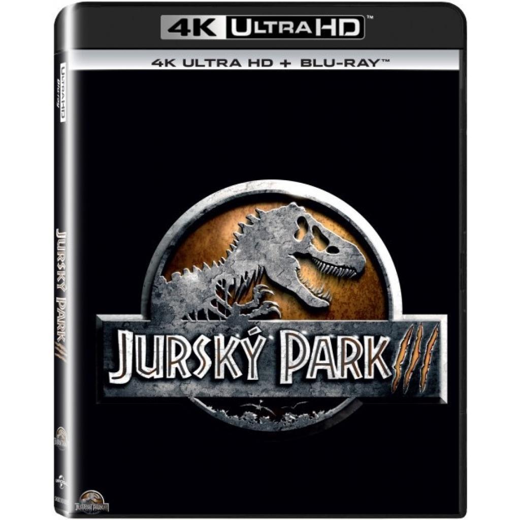 Blu-ray Jurský Park III, Jurassic Park III, UHD + BD, CZ dabing
