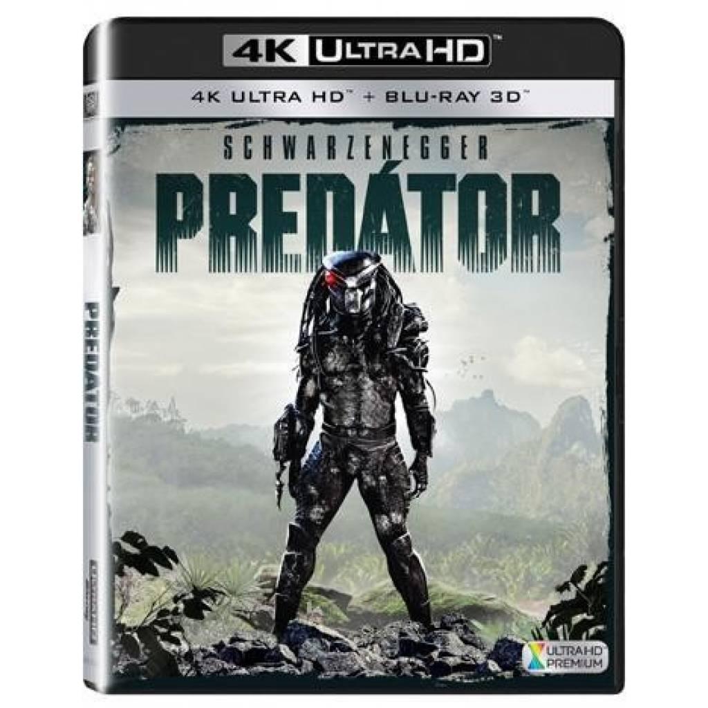 Blu-ray Predator, UHD + 3D BD + 2D BD, CZ dabing