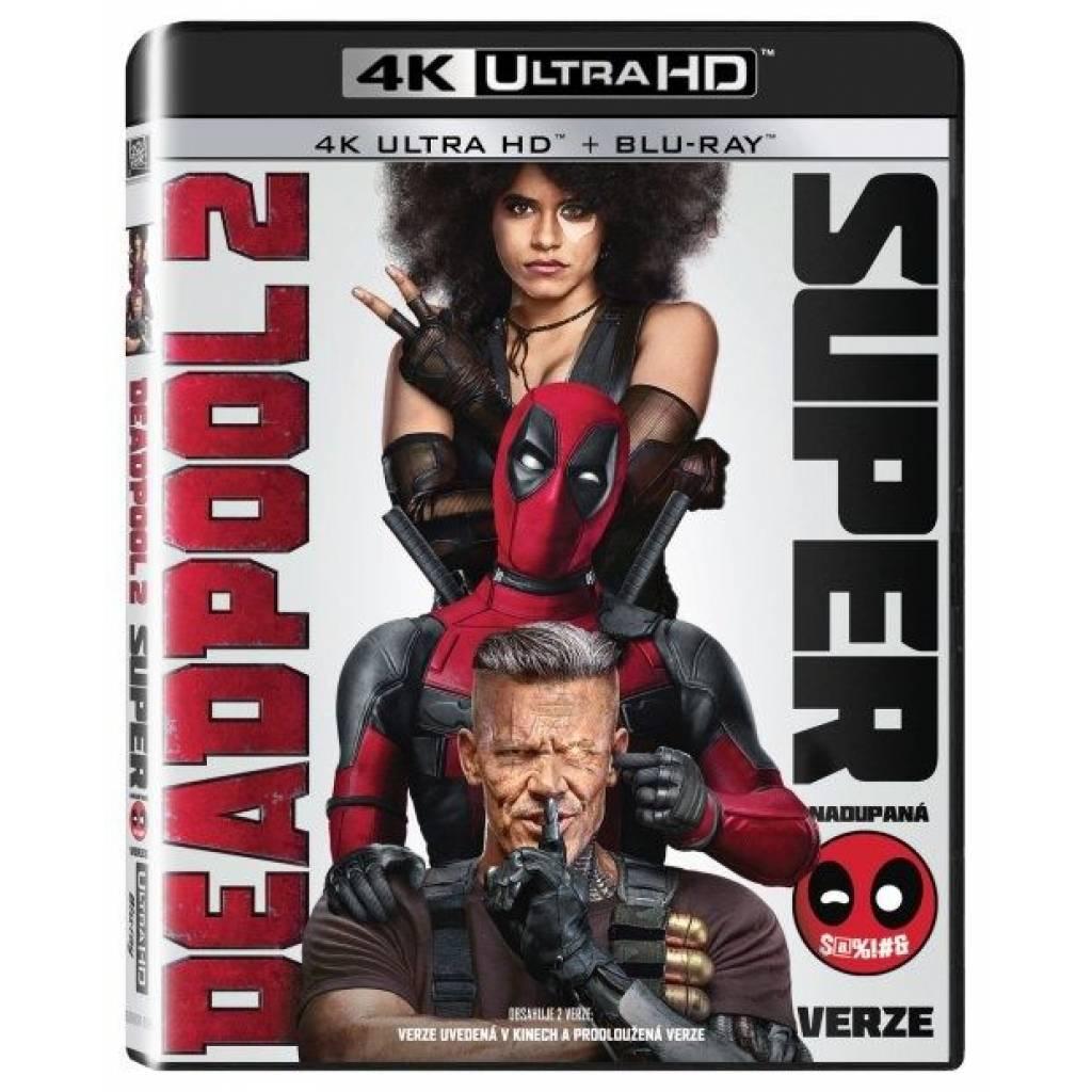 Blu-ray Deadpool 2, 2 UHD + 2 BD, CZ dabing