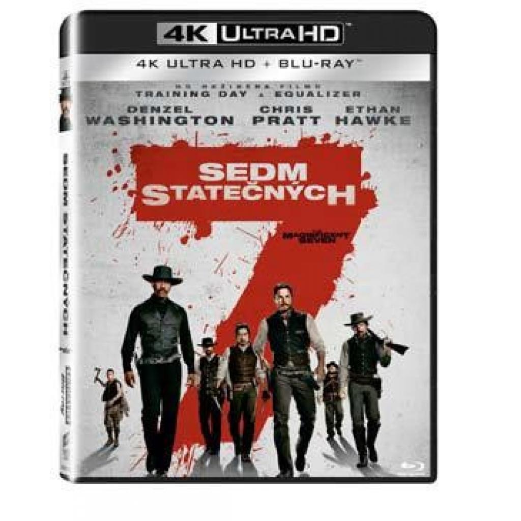 Blu-ray Sedm statečných (2016), The Magnificent Seven (2016), UHD + BD, CZ dabing