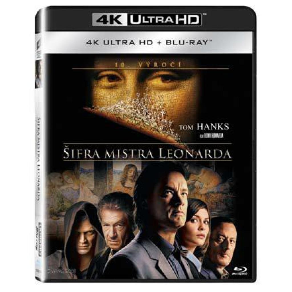Blu-ray Šifra mistra Leonarda, The Da Vinci Code, UHD + BD, CZ dabing