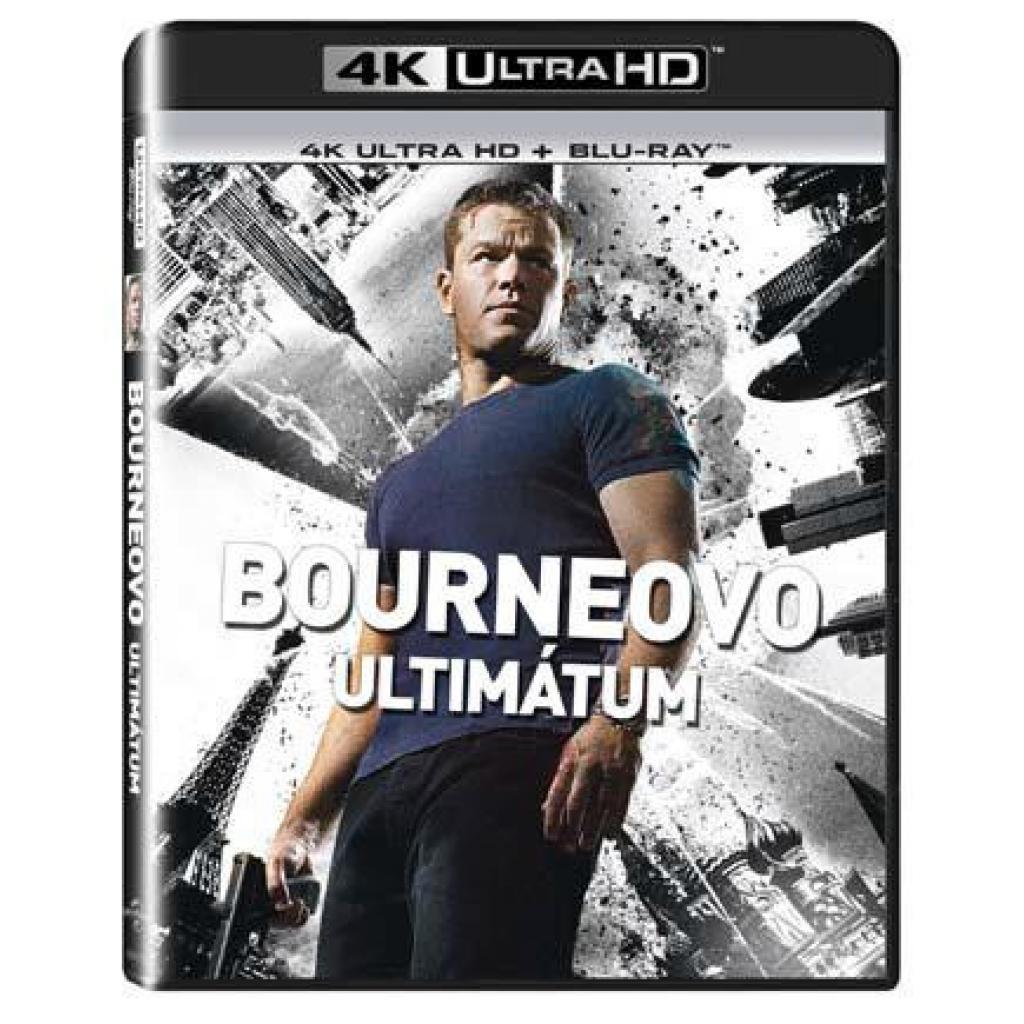 Blu-ray Bourneovo ultimátum, Bourne Ultimatum, UHD + BD, CZ dabing