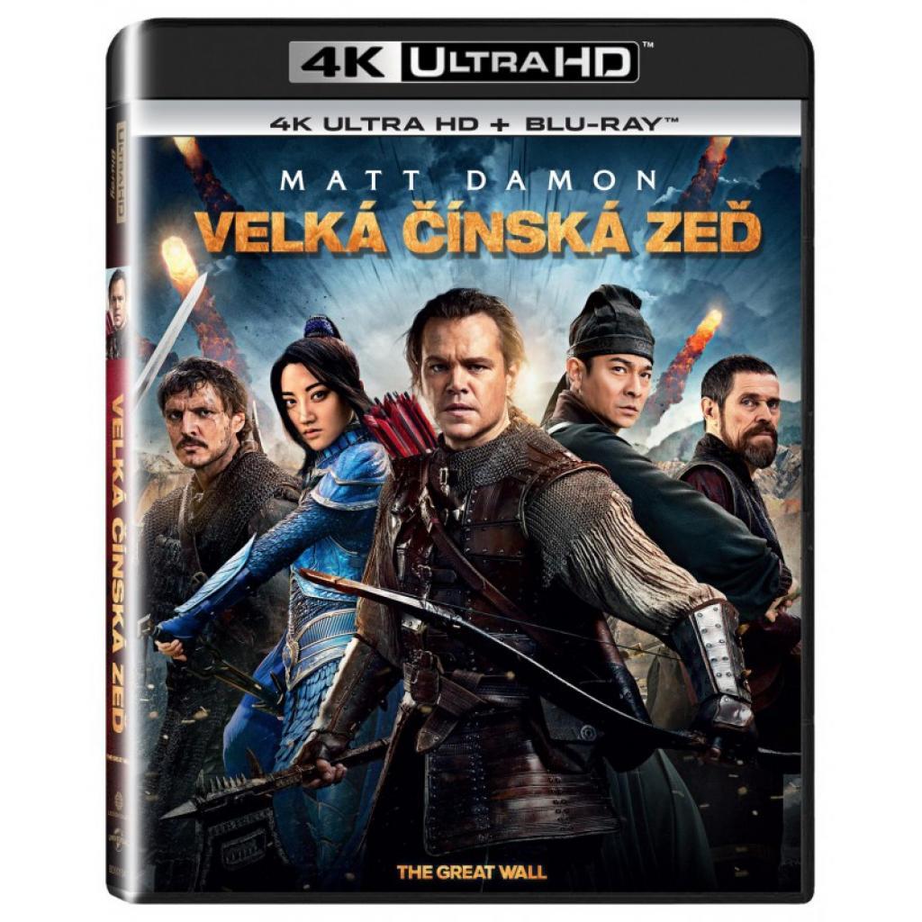 Blu-ray Velká čínska zeď, The Great Wall, UHD + BD, CZ dabing