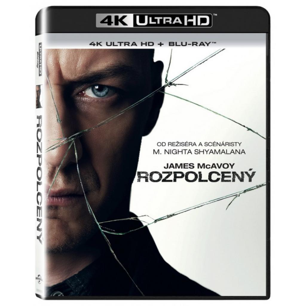 Blu-ray Rozpolcený, Split, UHD + BD, CZ dabing