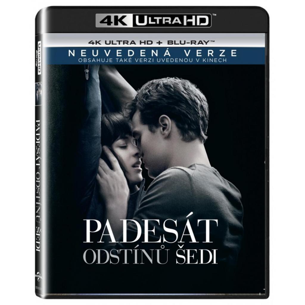 Blu-ray Padesát odstínů šedi, Fifty Shades of Grey, UHD + BD, CZ dabing, Neuvedená verzia