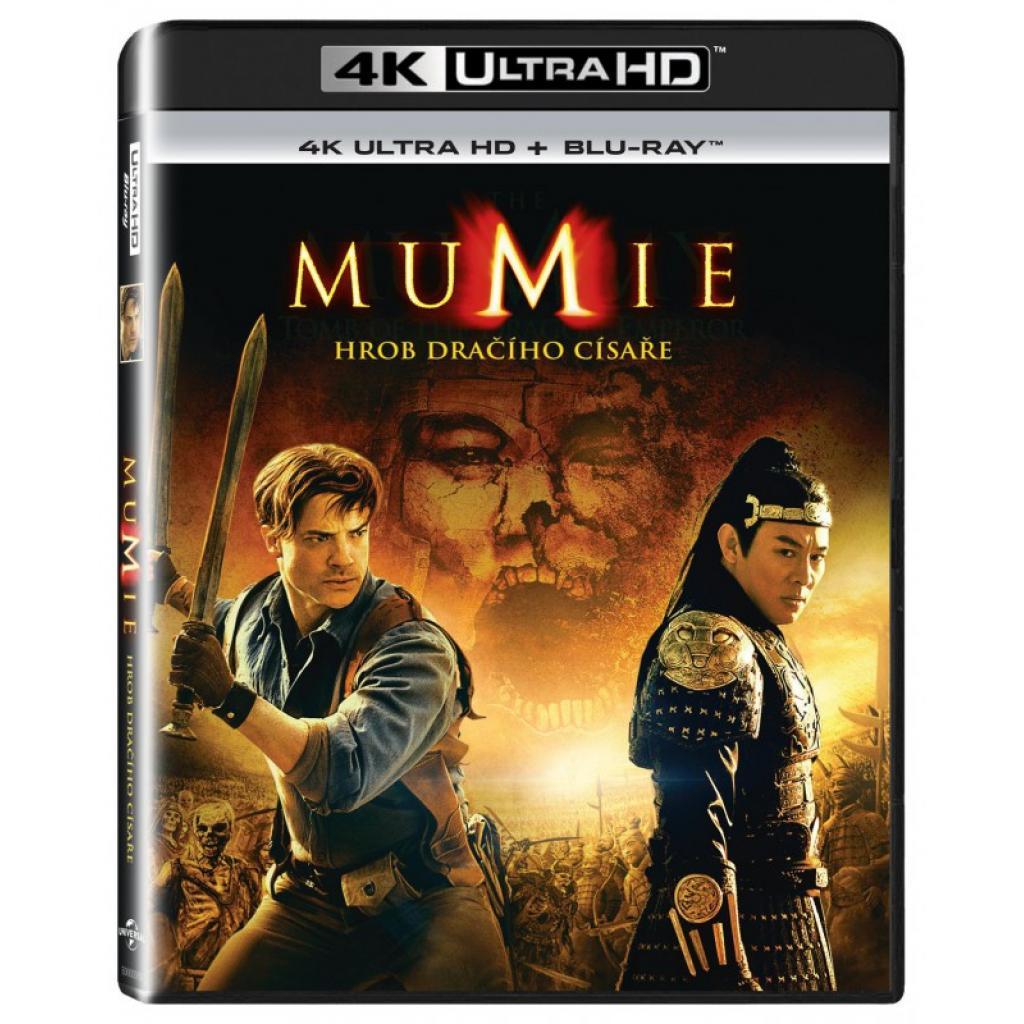 Blu-ray Mumie: Hrob dračího císaře, Mummy: Tomb of the Dragon Emperor, UHD + BD, CZ dabing
