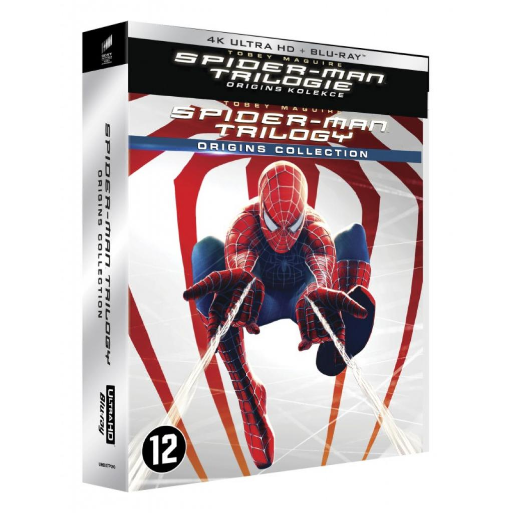 Blu-ray Spider-man trilogie – Origins kolekce, Spider-man trilogy – Origins collection, UHD + BD, Digibook, 6BD, CZ dabing