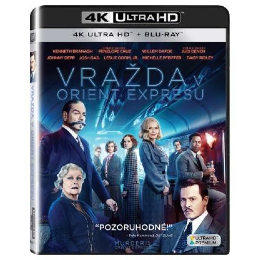 Blu-ray Vražda v Orient expressu, Murder on the Orient Express, UHD + BD, CZ dabing