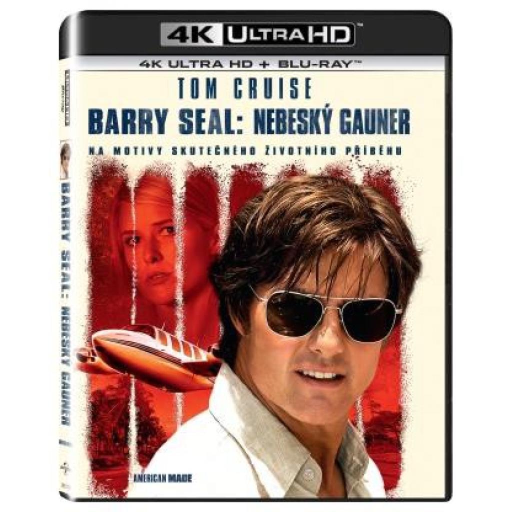 Blu-ray Barry Seal: Nebeský gauner, American Made, UHD + BD, CZ dabing