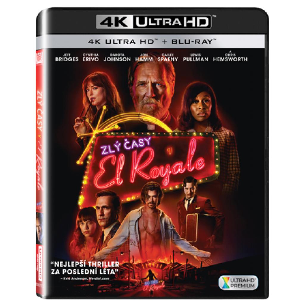 Blu-ray Zlý časy v El Royale, UHD + BD, CZ dabing