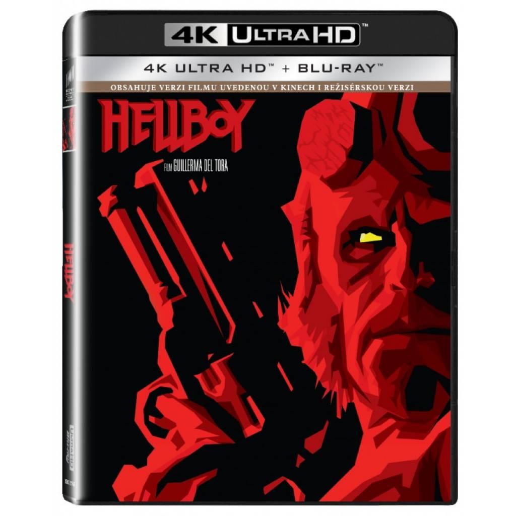 Blu-ray Hellboy, UHD + BD, CZ dabing