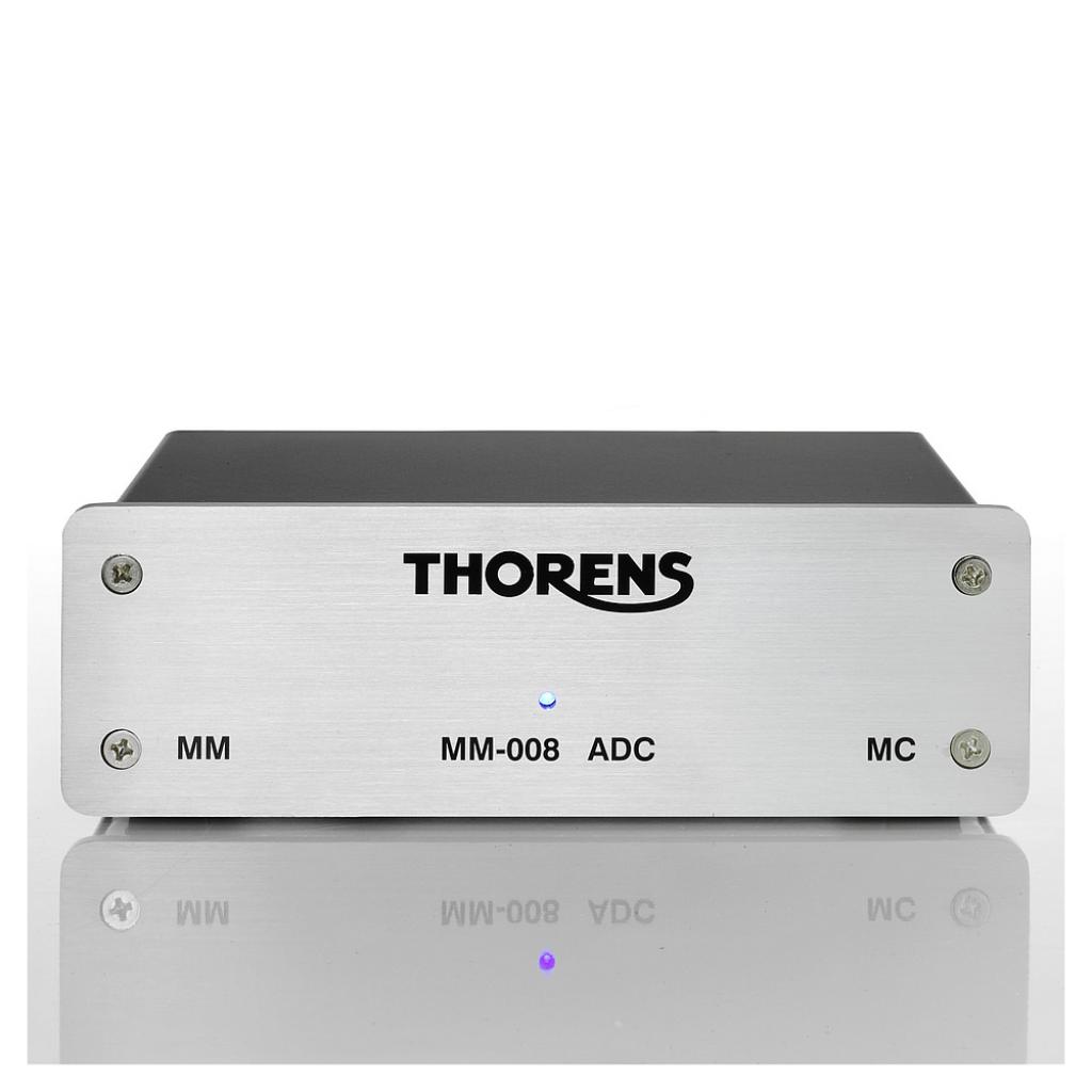 Phono Predzosilňovač Thorens MM-008 ADC (MM/MC, A/D+USB) Strieborná